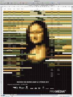 Spreadsheet made beautiful /// Prix Média on Advertising Served