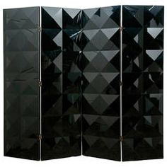 Four Folded Black Perspex Screen