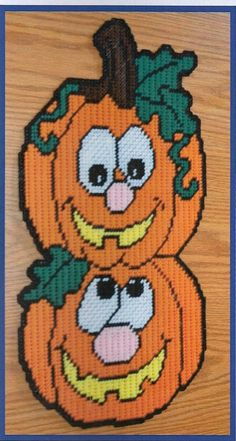 Needlecraft Super Shop - Pumpkin Pals Plastic Canvas Pattern, $4.50 (http://www.needlecraftsupershop.com/pumpkin-pals-plastic-canvas-pattern/)