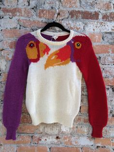 Look what just walked in flew into Doubletake. It's a vintage Krizia animal sweater size small. These on 1stdibs sell for over $500 and even on Etsy for $300.
