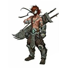Human Masked Barbarian - Pathfinder PFRPG DND D&D d20 fantasy