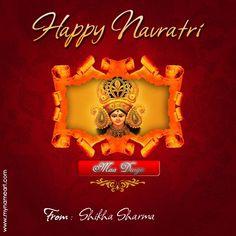 Navratri Navratri Greetings, Happy Navratri Wishes, Greeting Card Maker, Online Greeting Cards, Navratri Festival, Diwali Festival, Wishes Messages, Wishes Images, Navratri Messages
