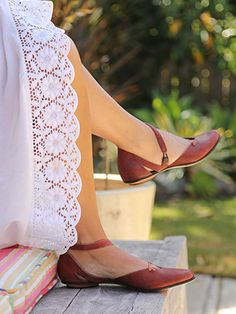 """Cydwoq """"Cover"""" - love these cute simple red leather shoes, made in the USA in California!"""
