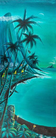 Hawaiian Homes, Hawaiian Decor, Tiki Art, Tiki Tiki, Tiki Tattoo, Tiki Bar Decor, Tiki Lounge, Surf Design, Vintage Tiki