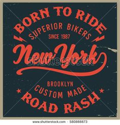 Vintage Biker graphics and Emblem with grunge background.