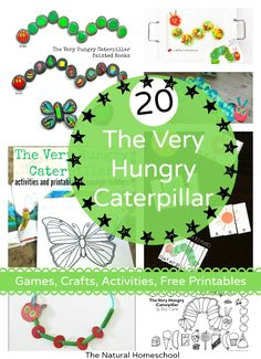 Here is another super awesome post on The Very Hungry Caterpillar activities and free printables list! Your kids will love how fun these activities are and you will love just how simple it is to make your kids so excited! Spring Activities, Learning Activities, Preschool Activities, Kids Learning, Indoor Activities, Insect Activities, Preschool Curriculum, Preschool Printables, Preschool Lessons