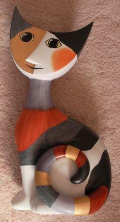 Rosina Wachtmeister porcelain cat.