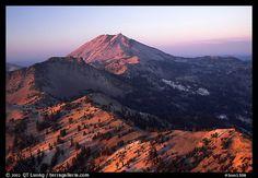 volcanic national park california   ... Peak ridge at sunset. Lassen Volcanic National Park, California, USA
