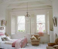 Quartos no estilo cottage romântico!!!