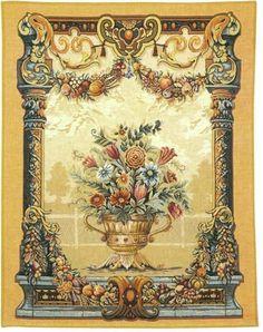 Jardin Beaumesnil - Italian Renaissance Wall Tapestry