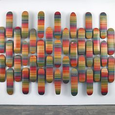 """Haroshi,""""100% Skateboarder Gradation"""" 2012 - Used Skateboards 31 1/2 x 7 7/8 inches (80.01 x 20 cm) Signed edition of 100"""