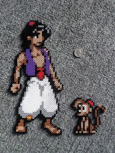 Made these Aladdin and Abu Perler beads based off designs I found online. Perler Bead Designs, Perler Bead Templates, Hama Beads Design, Diy Perler Beads, Perler Bead Art, Pearler Bead Patterns, Perler Patterns, Disney Hama Beads Pattern, Quilt Patterns