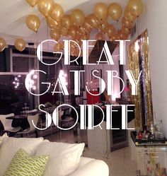 great gatsby party images - Omg would love to one day have a surprise Gatsby party! right up my ally ! id be Jay of course!;)