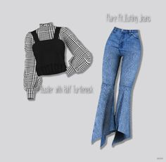 "ordinary-sims: "" miniminisims: "" Knit Bustier with Half Turtleneck & Flare Fit_Cutting Jeans Sims 4 Mods Clothes, Sims 4 Clothing, Sims 4 Game Mods, Sims Mods, Vêtement Harris Tweed, Sims 4 Gameplay, Sims4 Clothes, Sims 4 Toddler, Sims 4 Cc Finds"