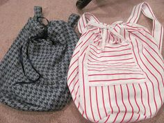 Easy DIY Backpacks using only 1 yard of fabric!