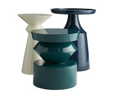 A fresh play on geometry, the Uma Side Table packs a sculptural punch in rich peacock green lacquer. It's the perfect modern accent table for an artful contemporary interior. Apartment Furniture, Table Furniture, Rustic Furniture, Cool Furniture, Modern Furniture, Furniture Design, Furniture Ideas, Geometric Furniture, Furniture Removal