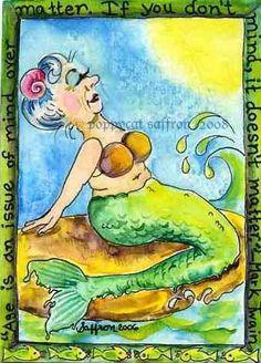 Magnet Old Mermaid by poppycat on Etsy, $3.25