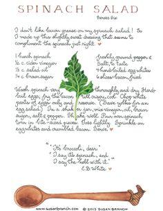 Spinach salad/ susanbranch.com