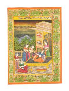 Miniature Indian Art - Daasiyan [Framed] on Jaypore.com