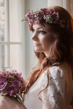Labude - Flower Crown Haarschmuck Braut Blütenkranz