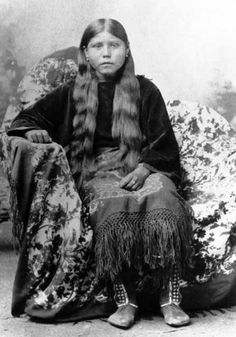 Hazel Taddnahnappih (the wife of Oscar Yellow Wolf) - Comanche - no date