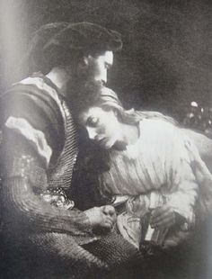 Julia Margaret Cameron | Lancelot and Elaine, William Warder and May Prinsep, 1874 | Image reproduction in Helmut Gernsheim ,159