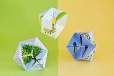 Flextangle: Vorlage zum Ausdrucken   familie.de Flextangle Template, Templates, Never Ending Card, Lifecycle Of A Frog, Diy And Crafts, Crafts For Kids, Butterfly Life Cycle, Science Crafts, Art Plastique