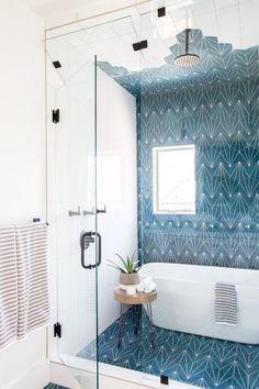 Cheap Home Decor kids bathroom ideas: tub inside a shower.Cheap Home Decor kids bathroom ideas: tub inside a shower Home Buying, Blue Bathroom, Home, Bathroom Interior, Home Remodeling, Bathroom Interior Design, Bathroom Kids, House Interior, Bathroom Design