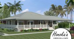 louisiana style plantation house plans Hawaii Packaged Home: Honoka'a HPM Hawaii Building Supplies Beach House Plans, Country House Plans, Small House Plans, Building Plans, Building A House, Small Cottage Homes, Cottage House, Small Homes, Plantation Style Homes