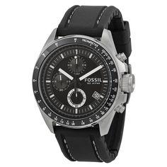 Fossil Men's Decker CH2573 Black Silicone Analog Quartz Watch #Fossil #CasualSportOutdoor