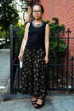 Lorraine steps out in one of the newer trends we've been seeing lately - culottes!  DUO54.com NYC Street Style