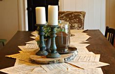 { Music Sheet Table Runner }