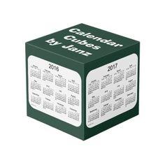 2016-2019 Green Small Calendar Cubes by Janz Photo Cube