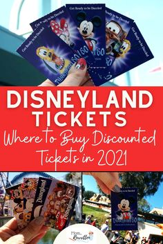 It's the ultimate Disneyland ticket guide, updated for 2021! Get the tips on how and where to secure discount Disney theme park tickets, park reservations, park hopping and more. Find out where to buy discounted Disneyland tickets in 2021, including tips on where NOT to buy and what tickets are the best value. Details on what ticket features are not longer available (and when they might return). #Disneyland #DisneyTips #DisneylandTickets #ThemeParks #CaliforniaTravel #TravelwithKids Disney World Tickets Cheap, Disney Theme Park Tickets, Disneyland Tips, Disneyland California, Disney Tips, Disney Disney, Disneyland Resort, Disney Parks