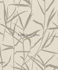 lux decoracoes papel de parede folhas lavabo Barbara Becker 709902