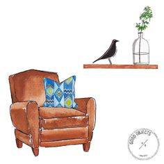 Good objects - interiors … #goodobjects #illustration