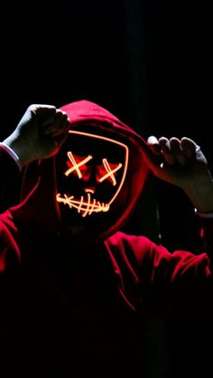 Led Mask Halloween Party Masque - Glow In The Dark Horror Maska - 4 Scary Modes Screen Wallpaper, Cool Wallpaper, Mobile Wallpaper, Wallpaper Backgrounds, Black Wallpaper, Hacker Wallpaper, Wallpaper Keren, Marshmello Wallpapers, Purge Mask