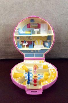 Vintage Bluebird Polly Pocket 1989 Polly's Cafe Compact Case Complete | eBay