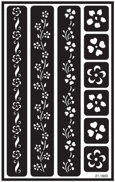 "etching stencils | ... Over 'n' Over Reusable Glass Etching Stencils 5""X8"" 1/Pkg GE21-1603"