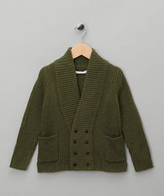 Take a look at this Olive Khaki Wool Radolph Cardigan by LIHO & Dundelina on #zulily today!