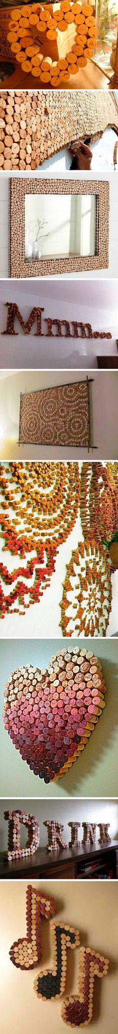 reciclar tapones de corcho - decoracion 2
