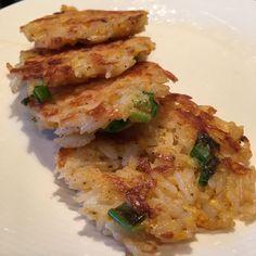 Rijstkoekjes met lente-ui en kaas @ http://allrecipes.nl