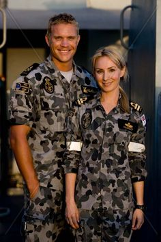 Conrad Coleby and Lisa McCune in Australian TV series, Sea Patrol, 2007-2011.