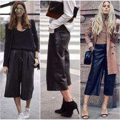 Foto #inspiração La Chocole:  A calça pantacourt de couro sintético é uma das queridinhas dessa coleção de inverno, uma peça versátil e cheia de estilo!!!! #lachocole #wintercollection
