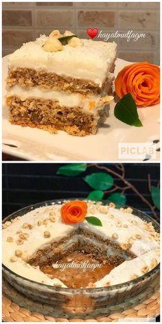 Custard, Vanilla Cake, Tiramisu, Carrots, Cake Recipes, Muffin, Food And Drink, Cookies, Baking