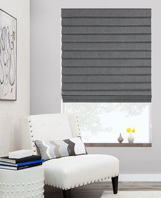 Hand-tailored with the greatest care, our Flat Roman Shades provide a clean & elegant finish to any room. View our entire Roman Shade collection online. Window Coverings, Window Treatments, Relaxed Roman Shade, Buy Tile, Curtains With Blinds, Roman Blinds, Shades Blinds, Roman Shades, Interior Decorating