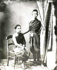 1868 portrait of Siamese girls