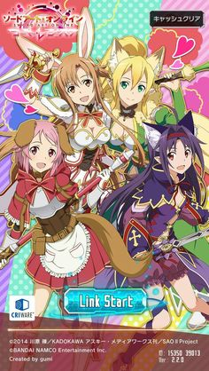 Lisbeth, Asuna, Leafa, Yuuki