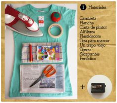 "DIY Estampa ropa con ""plastidecores"" / DIY stamping your clothes with ""crayon"" 