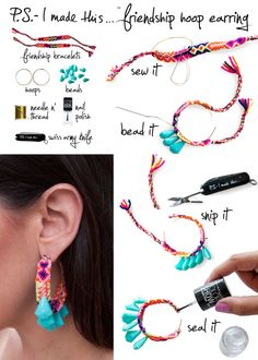 8. Friendship Hoop Earrings